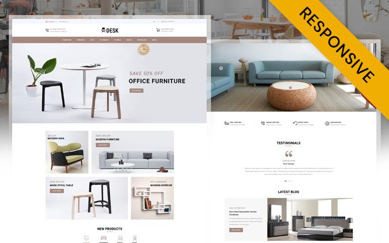 Modello OpenCart del negozio di mobili da scrivania