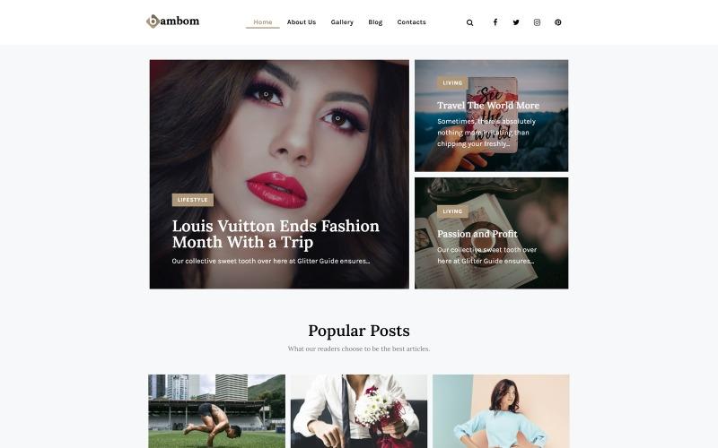 BamBom - Многоцелевая минимальная тема WordPress для блога о стиле жизни