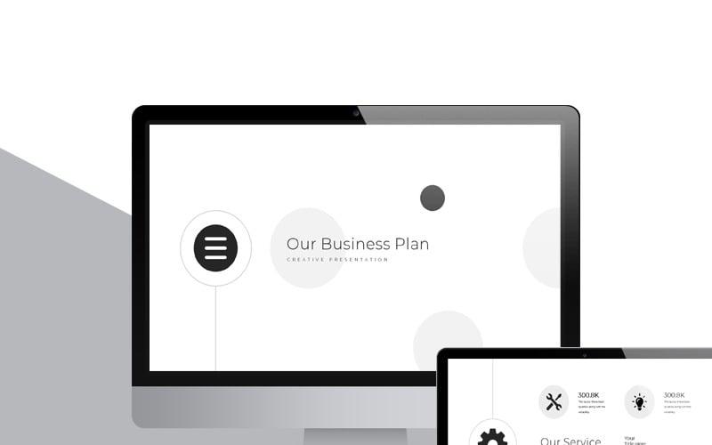 Black & White Presentation PowerPoint Template