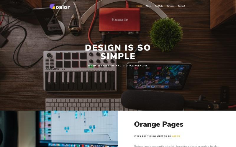 Goalor - Многоцелевая современная тема WordPress Elementor для креативного агентства