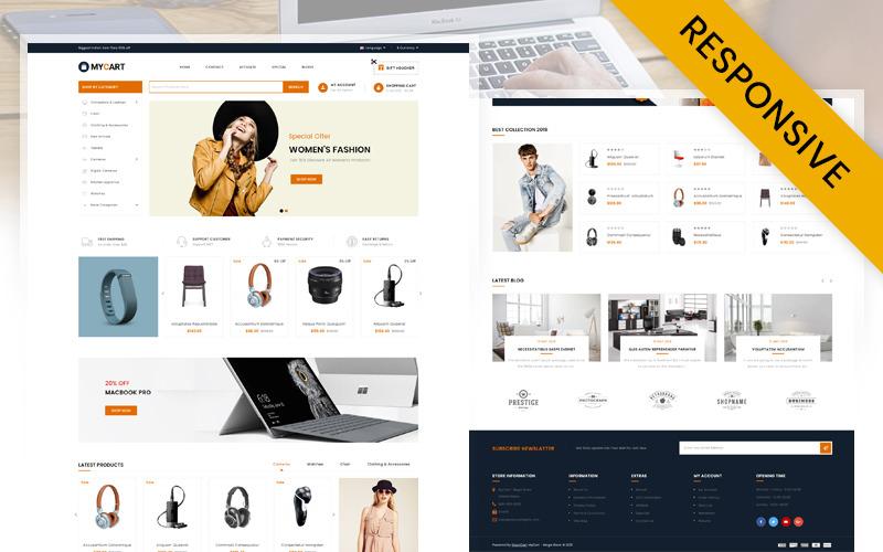 MyCart - Çok Amaçlı Mağaza OpenCart Şablonu