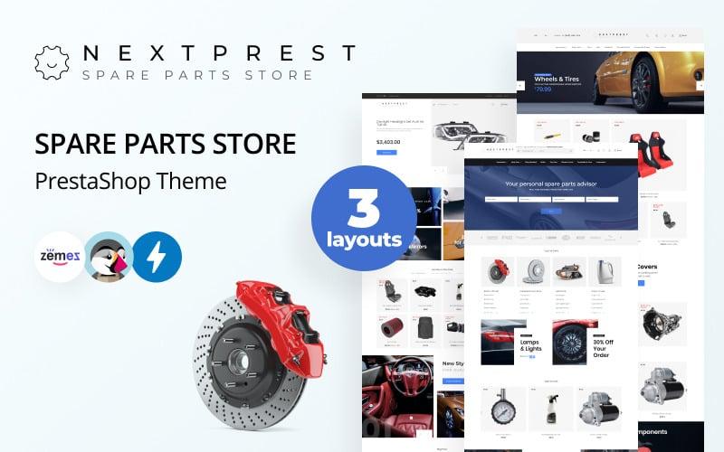 Nextprest - Магазин запчастей Clean Bootstrap Ecommerce PrestaShop Theme