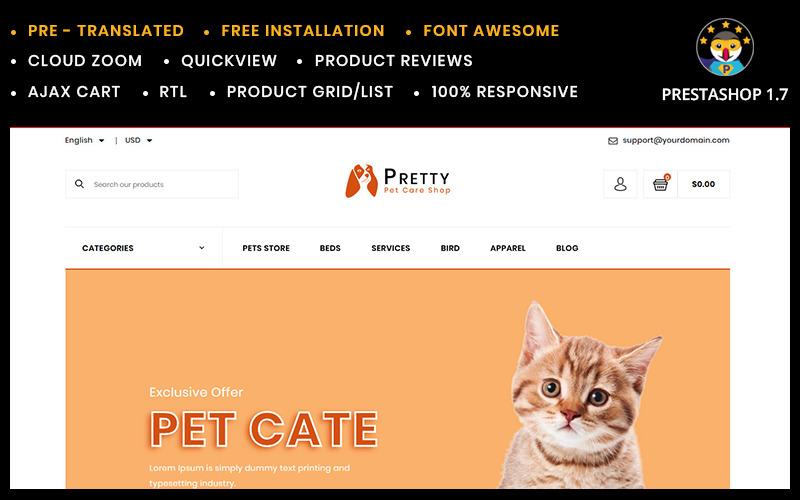 Pretty Pet store Template PrestaShop Theme