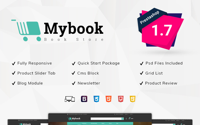Tema PrestaShop di Mybook Book Store