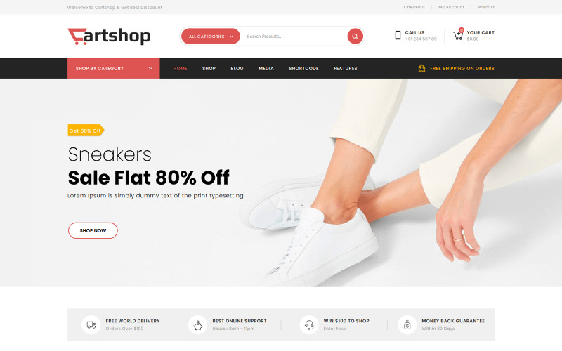 CartShop - Mega Shop Multipurpose WooCommerce Theme