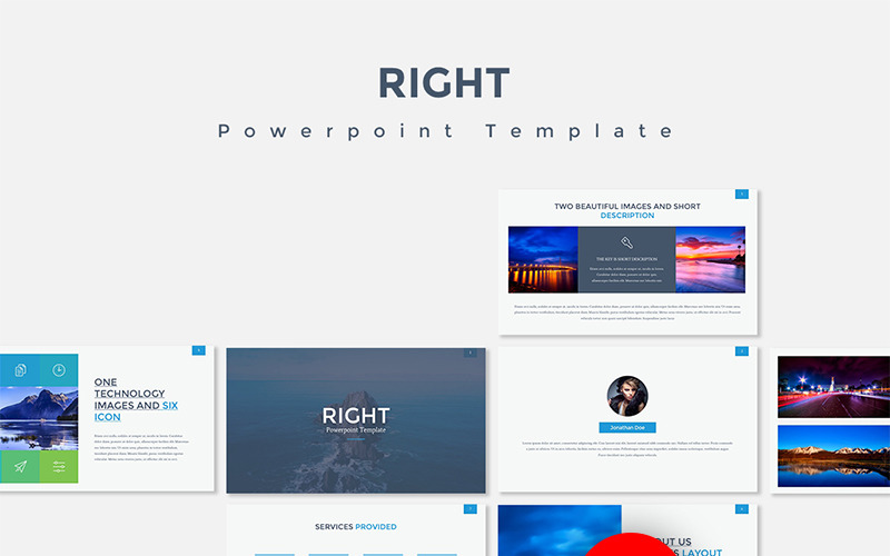 Right PowerPoint Template