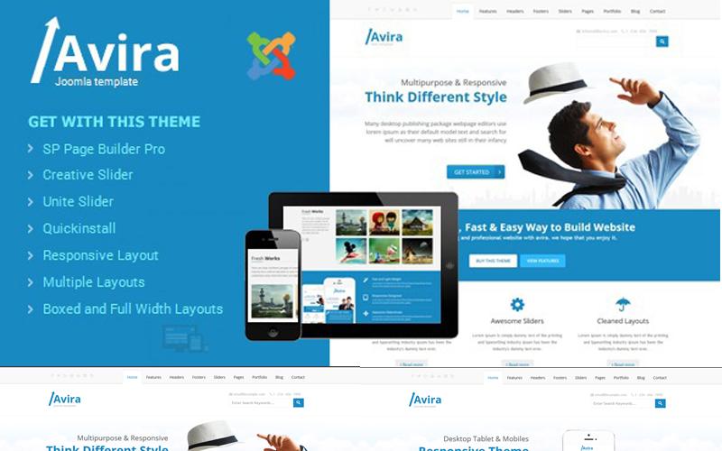 Avira - Responsive Multipurpose Joomla Template
