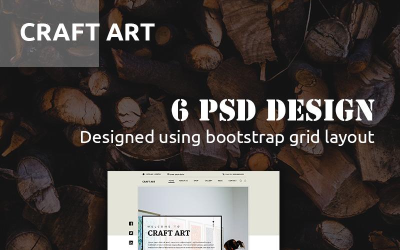 CraftArt PSD шаблон