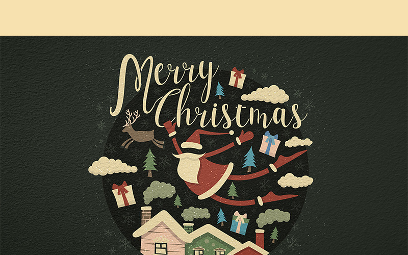 Frohe Weihnachten - Illustration