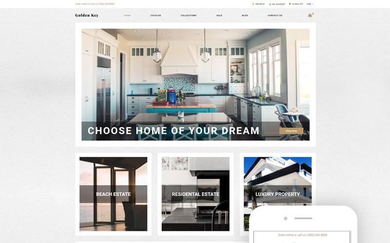 Golden Key - Real Estate Clean Shopify Theme