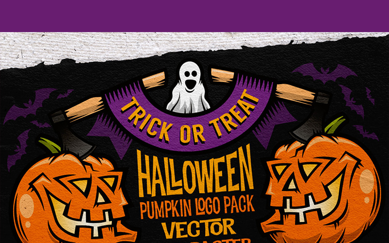 Halloween Pumking Logo Set - Illustration