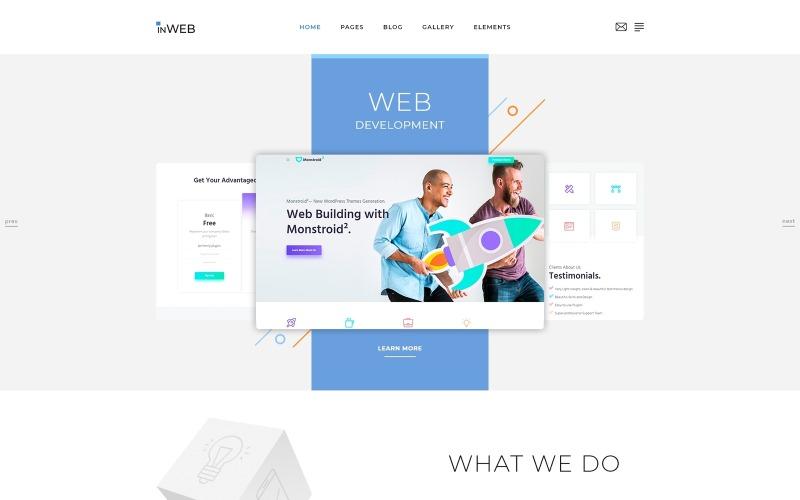 InWeb - чистый многостраничный HTML5 шаблон веб-сайта для студии веб-разработки