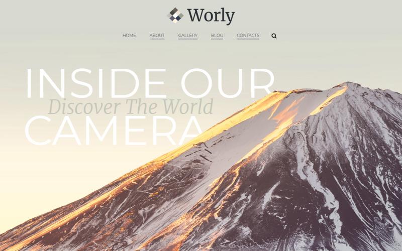 Worly - Tema WordPress Elementor moderno multifuncional de fotografia