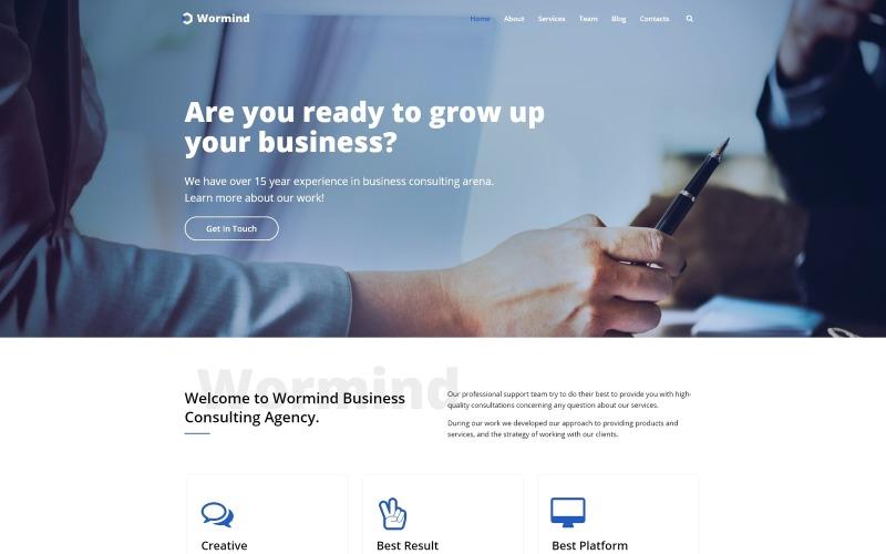 Wormind - Tema Business Multipurpose Classic WordPress Elementor