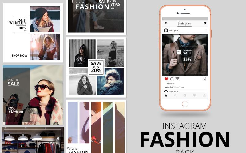 Fashion Instagram Banner Pack Social Media Template