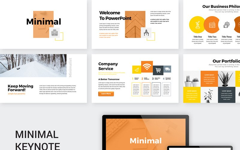 Orange - Minimal Presentation - Keynote template