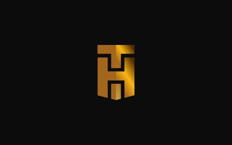 Шаблон логотипа TH Monogram
