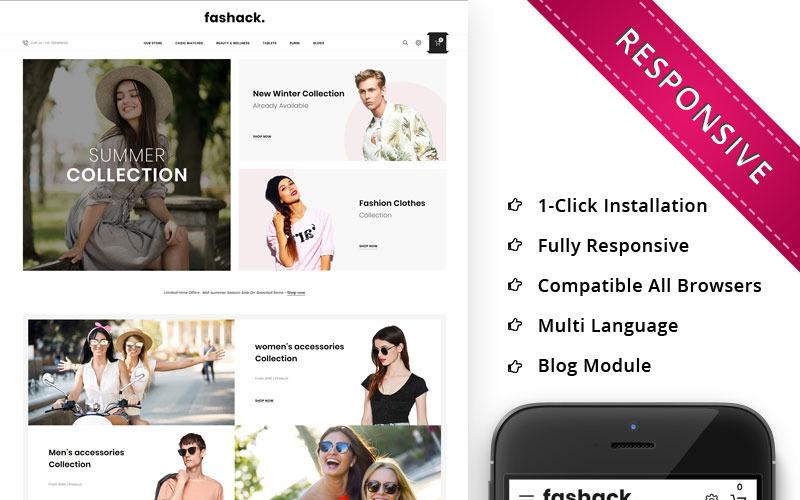 Fashack - Адаптивный OpenCart шаблон для магазина модной одежды