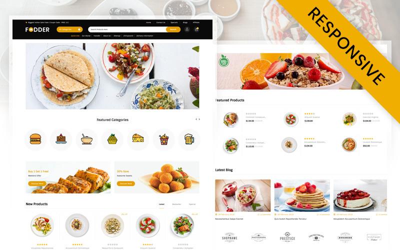 Fodder Restaurant Store OpenCart Template