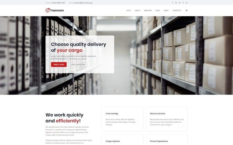 Trannom - Logistics Multipurpose Minimal WordPress Elementor Theme
