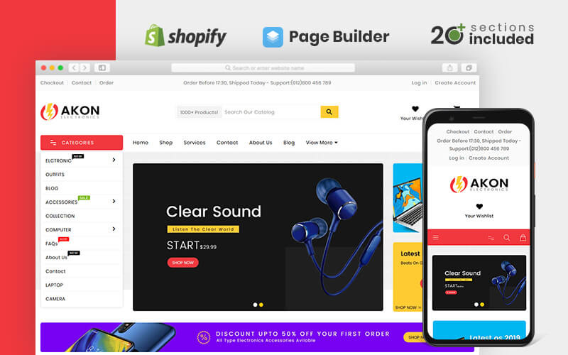 Akon Electronics Shopify Theme