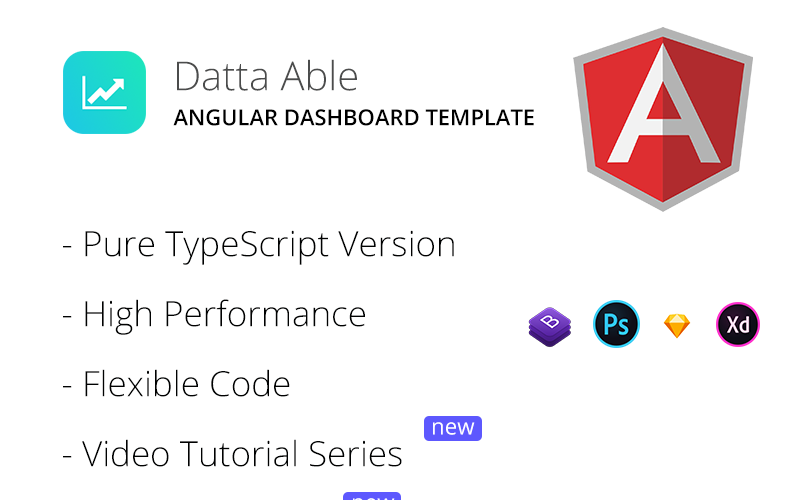 Datta Able Angular 10 Dashboard