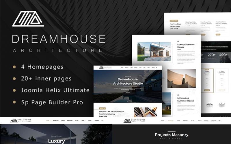 Dreamhouse - шаблон Joomla для архитектуры и дизайна интерьера