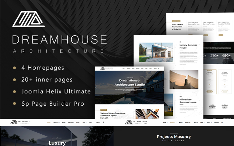 Dreamhouse - šablona Joomla pro architekturu a interiér