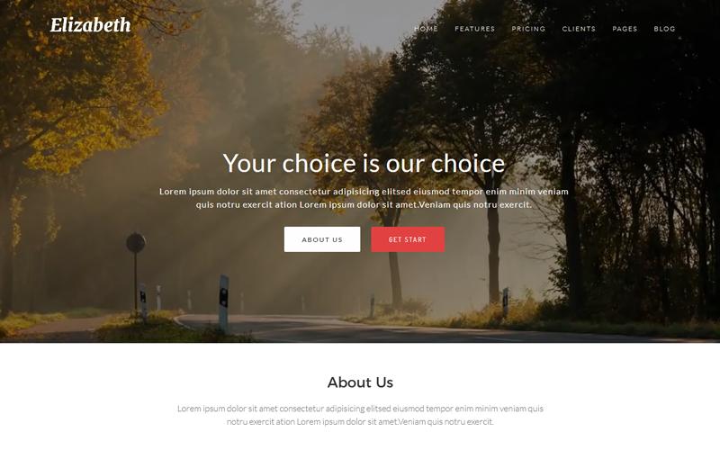 Elizabeth - One Page Corporate Joomla Template