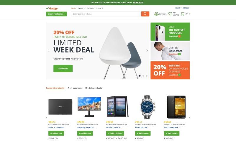 Gadgy - Groothandelswinkel WooCommerce-thema