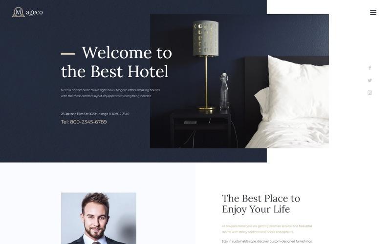 Mageco - Hotel Multipurpose Minimal WordPress Elementor Theme