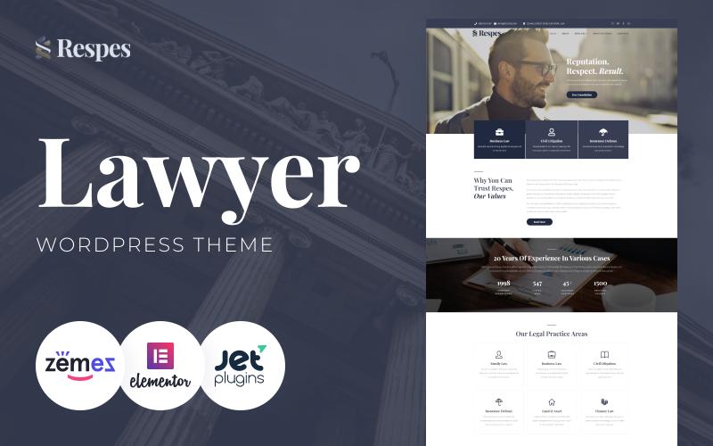Respes - WordPress тема для юриста