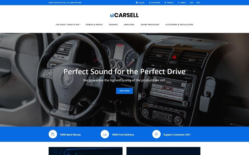 Carsell - vícestránková čistá šablona OpenCart pro audio do auta