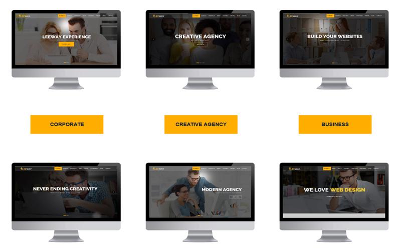 Leeway - Multipurpose One Page Joomla Template
