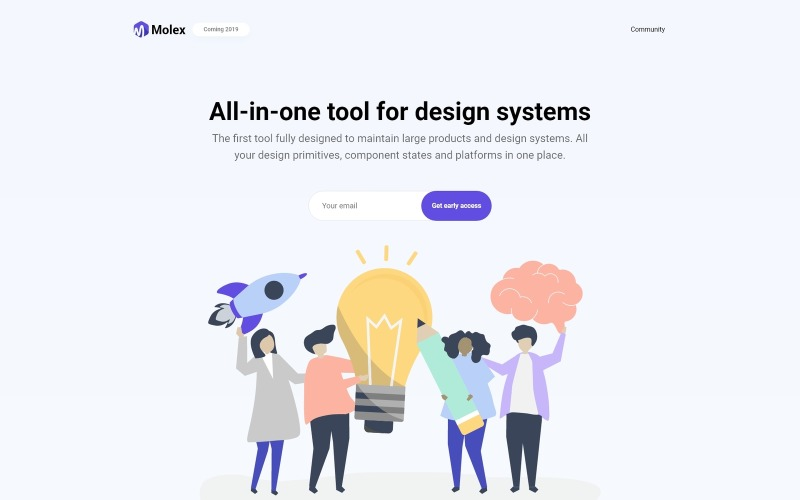 Molex - Speciale landing WordPress Elementor-thema