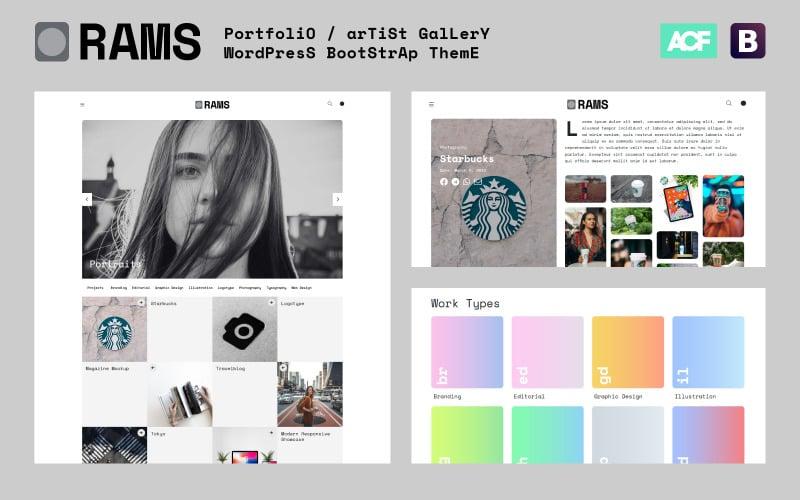RAMS - тема WordPress для галереи портфолио художника