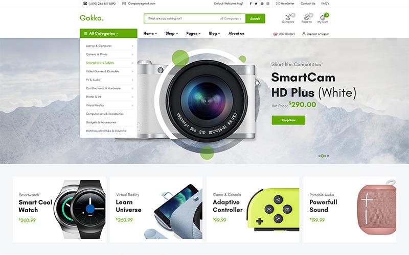 Gokko - универсальная тема WooCommerce