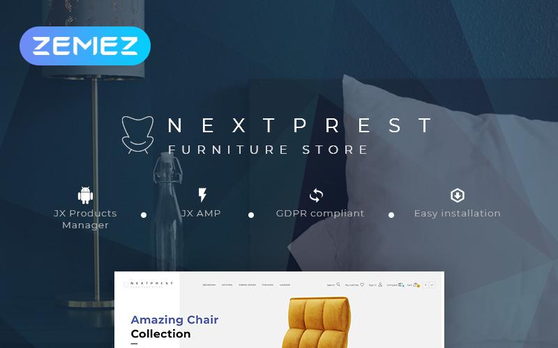 Nextprest - Tema de PrestaShop de comercio electrónico limpio Bootstrap para tienda de muebles
