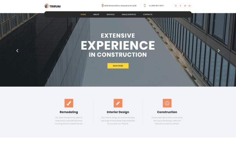 Trirum - Construction Multipurpose Modern WordPress Elementor Theme