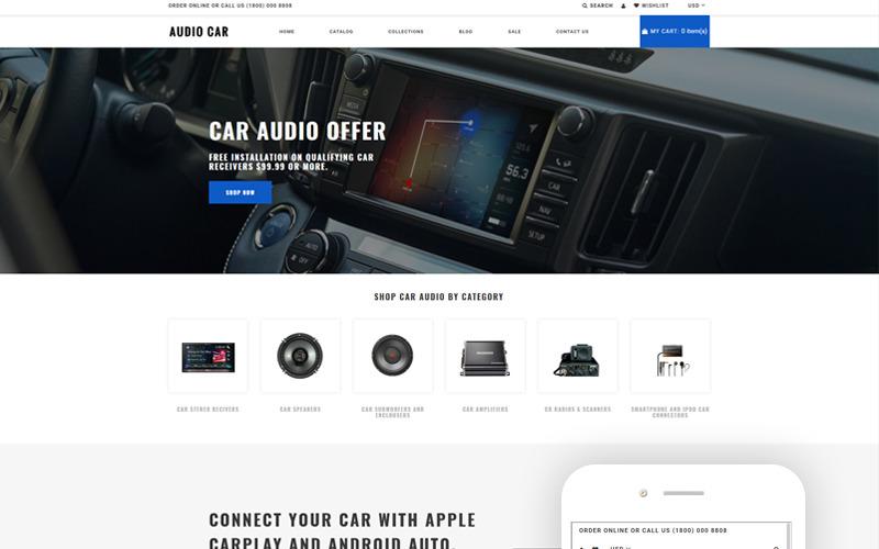 Audio Car - Car Audio Multipage Modern Shopify téma