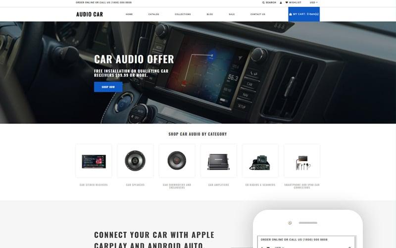 Audio Car - Car Audio Multipage Modern Shopify Theme