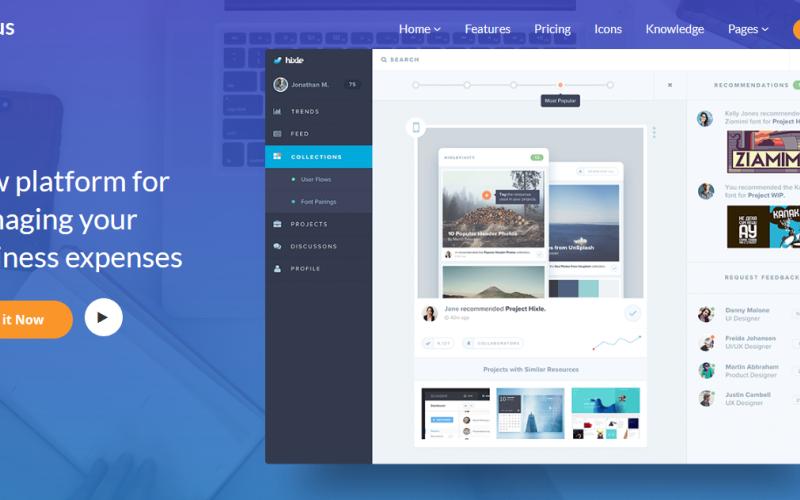 Emaus | SaaS, WebApp, Ebook Joomla Template