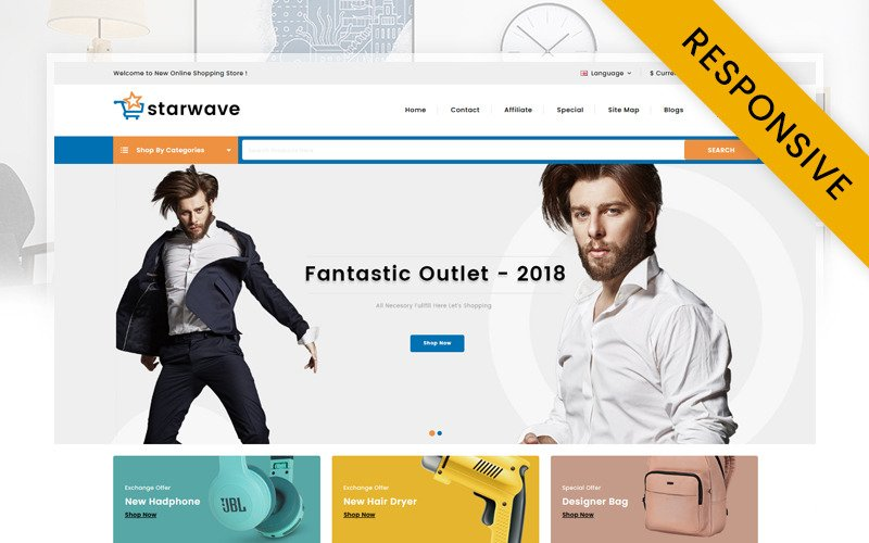 Starwave - Multipurpose Store OpenCart Template