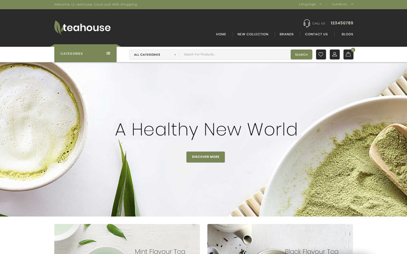 Teahouse - Food and Drinks Store OpenCart Template
