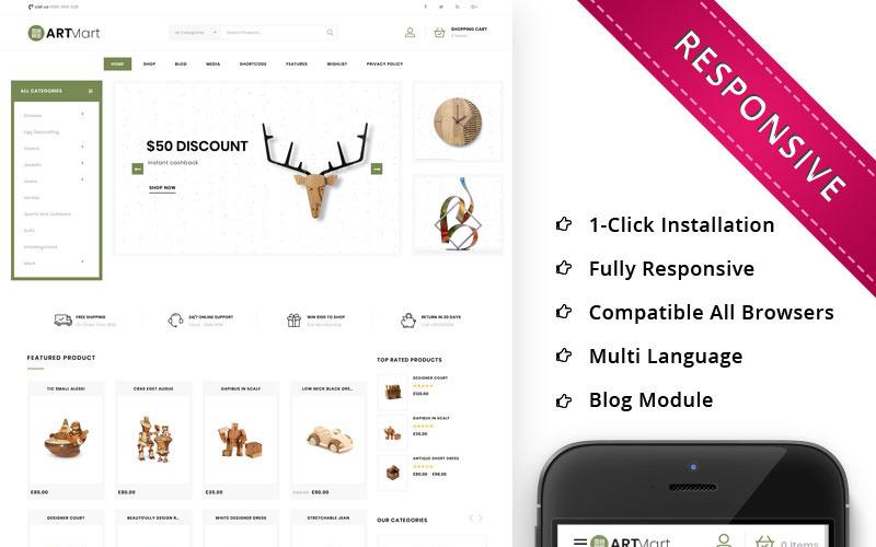 Artmart - responsywny motyw WooCommerce dla sklepu z dekoracjami do domu