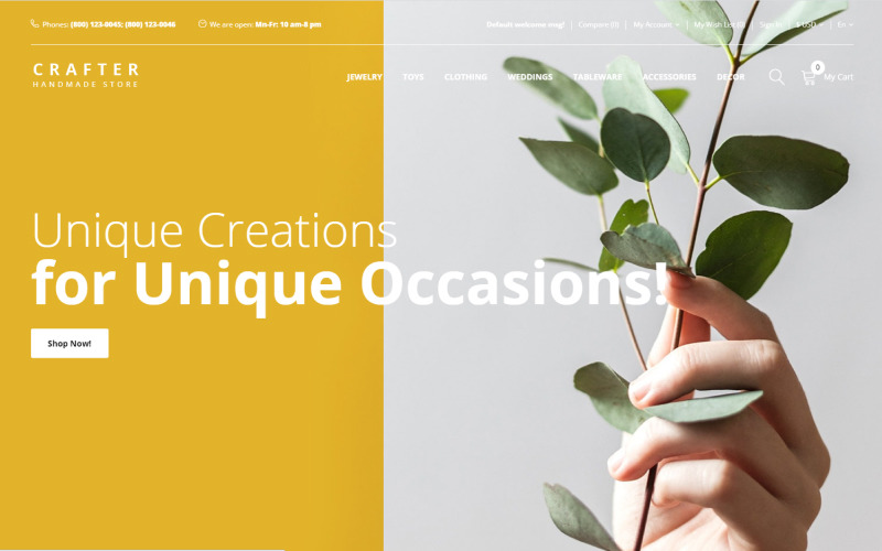 Crafter - Многостраничный креативный шаблон OpenCart для подарков