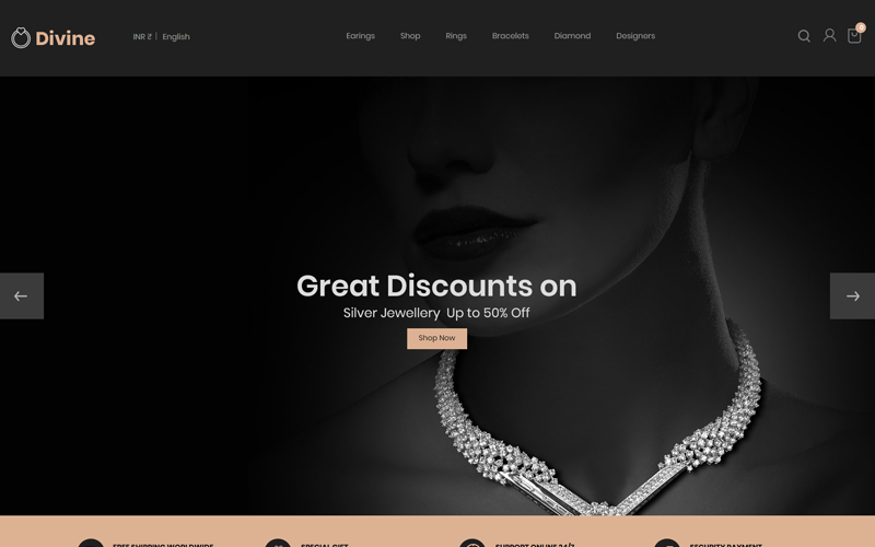 Divine - Tema de PrestaShop Jewellery Black