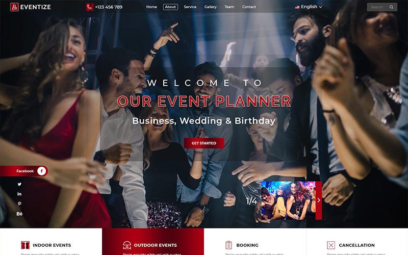 Eventize Events & Party modèle PSD