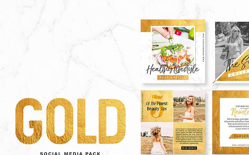 GOLD Pack Social Media Vorlage
