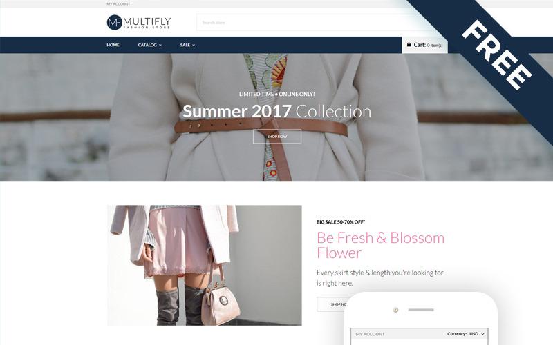 Multifly - Tema elegante gratuito de Shopify para tienda de moda